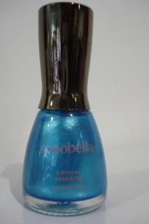 NAIL CRYSTAL BLUE sparkle SPARKING LONG LASTING 18ML BRAND SONOBELLA